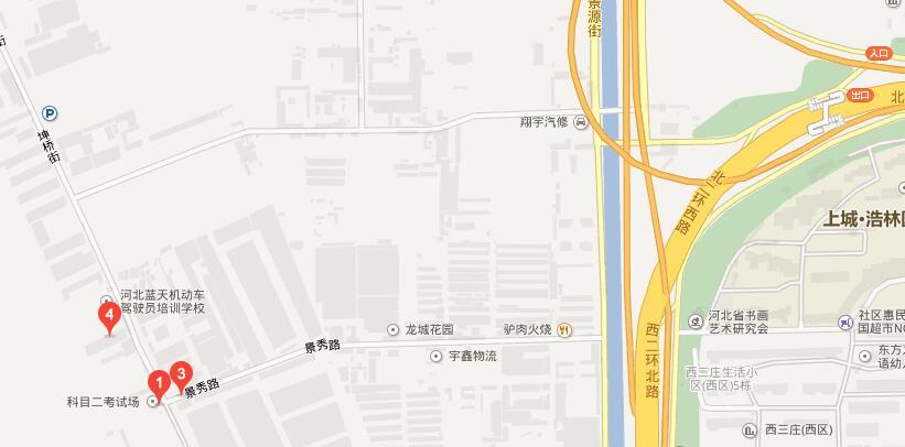 石家庄蓝天驾校地址图